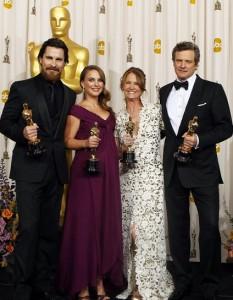 Оскар получили Кристиан Бале, Натали Портман, Мелисса Лео и Колин Фёрт